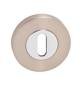 MP - Rosette - R - NP / OC - Nickel pearl / Polished chrome