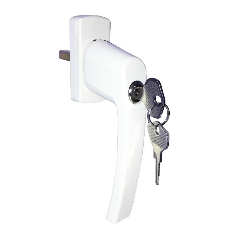 Lockable handle for euro window HR - White