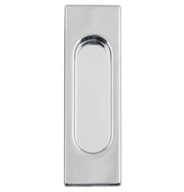 Square shell for sliding door FIMET - OC - Polished chrome